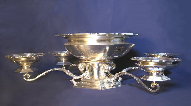 Silver bowl presented to Provost Charles Custis Harrison by the University Trustees, 1906