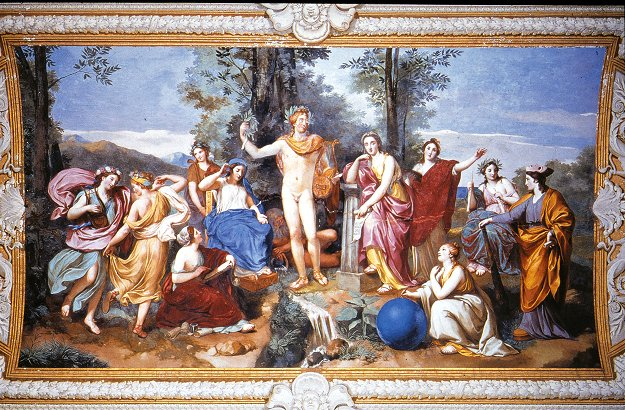 Mengs, Anton Raphael  -  Apollo, Mnemosyne and the Nine Muses