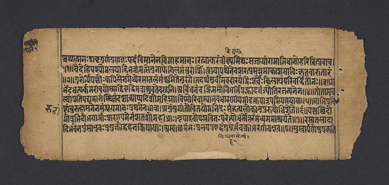 Indic Manuscripts Collection: Ms. Coll. 390, Item 1547 - Kālidāsa - Raghuvaṃśa