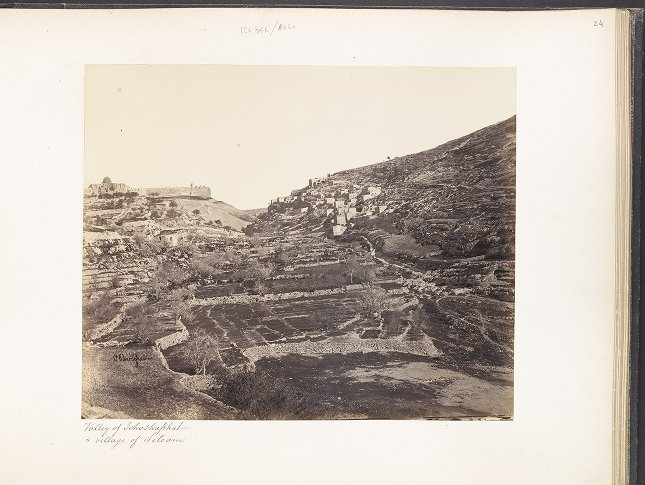 Valley of Jehoshaphat & village of Siloam
