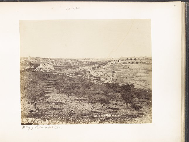 Valley of Gihon & Mt. Zion