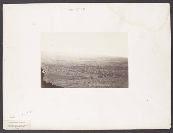 View of the Plain of the Jordan and Mountains of Moab, from Keferein