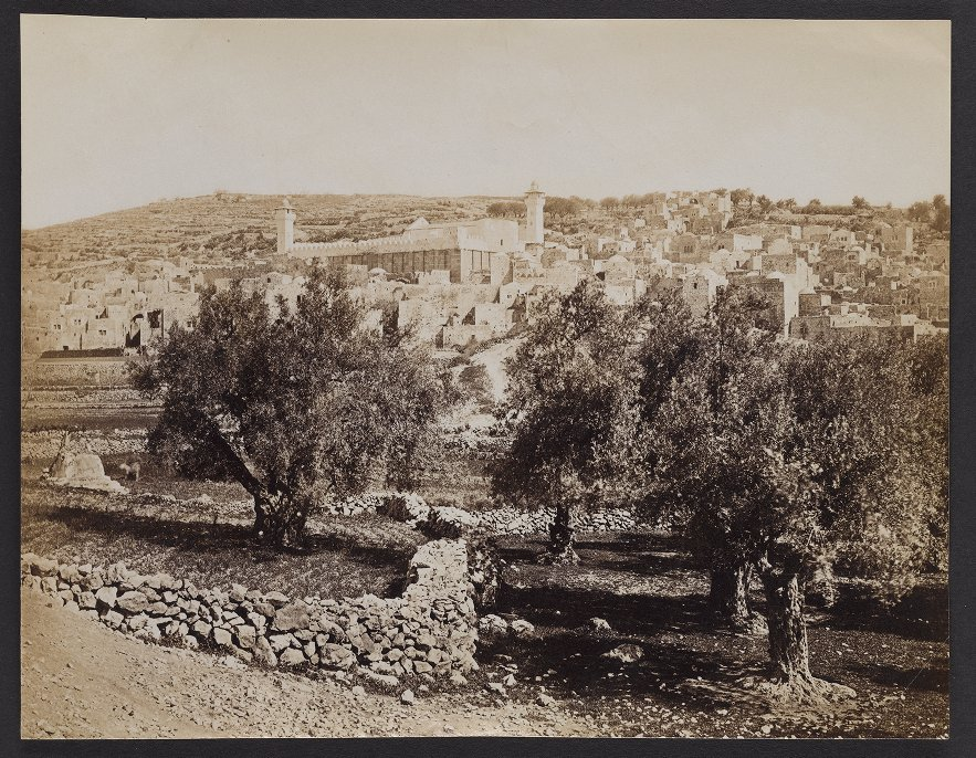 Hebron--showing the Mosque covering the Cave of Machpelah