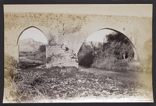 Jericho--Ruined Aqueduct over the Brook Cherith