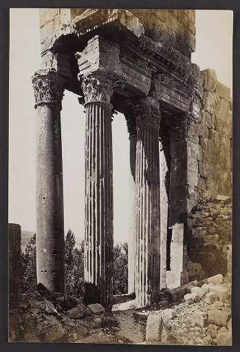 Columns at the Eastern End of the Peristyle of the Temple of Jupiter