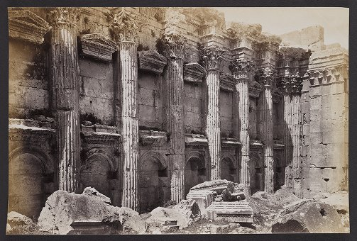 View of the semi-columns &c. in the Cella of the Temple of Jupiter, Baalbec