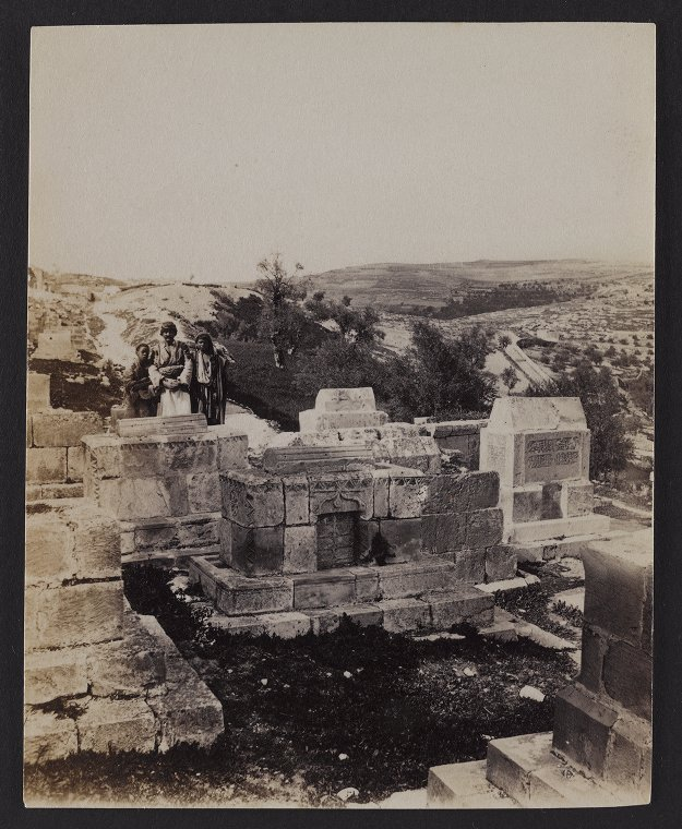 View from near St. Stephen's Gate, Mount Scopus in the distance
