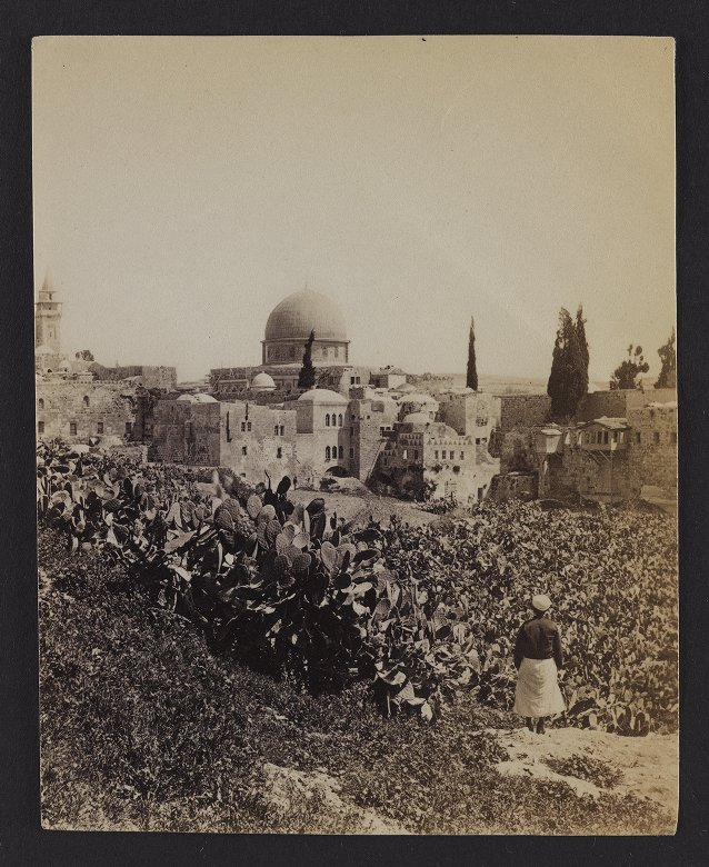 View from Mount Zion. The Dome of the Mosque of Omar, &c.