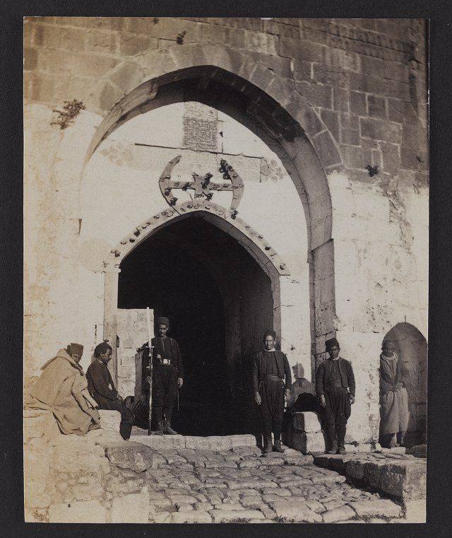 Entrance to David's Tower and Turkish Guard