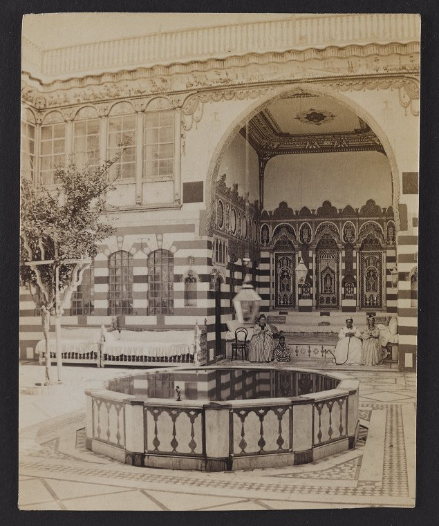 Damascus--Courtyard of a Jewish House (Lisbony's)