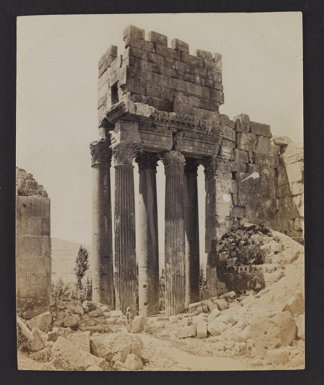 Baalbec--The Temple du Jupiter, Columns of the Peristyle at the South-east end