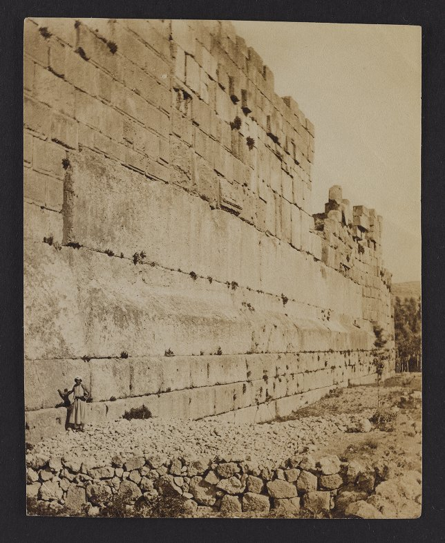 The Three Great Stones in the Western wall of the Great Temple Platform: