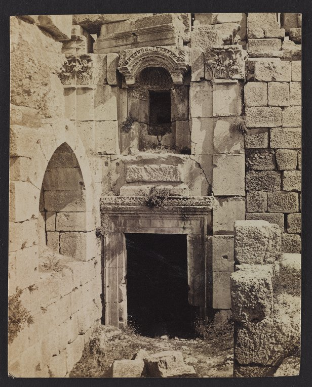 Beautiful Doorway and Niche in the Great Court of the Temple of the Sun