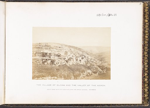 The Village of Siloam and the Valley of the Kidron