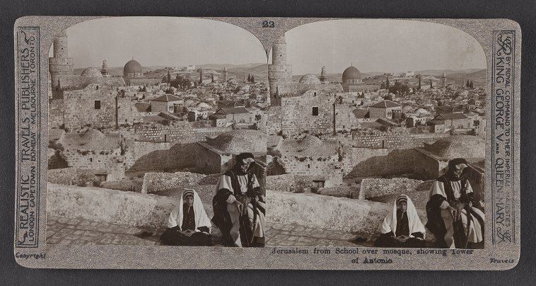 Jerusalem from School over mosque, showing Tower of Antonio