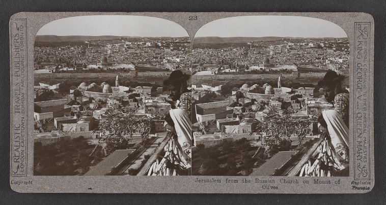 Jerusalem from the Russian Church on Mount of Olives
