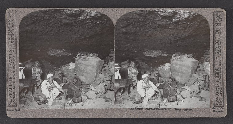 Bedouin cave-dwellers in their caves