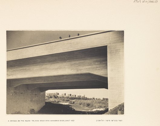 A Bridge on the Haifa--Tel Aviv Road over Iskandrun River, Built 1937