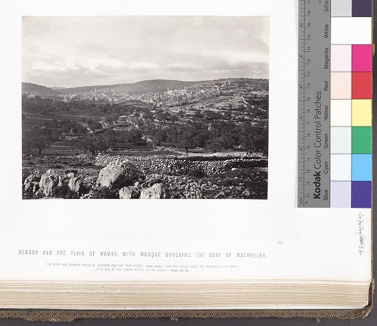 Hebron and the Plain of Mamre, with mosque covering the Cave of Machpelah :