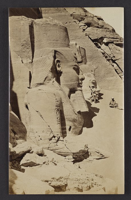 Abou Simbel. Facade of the Great Rock Temple