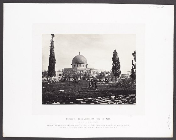 Mosque of Omar, Jerusalem, from the West, on the site of Solomon's Temple :