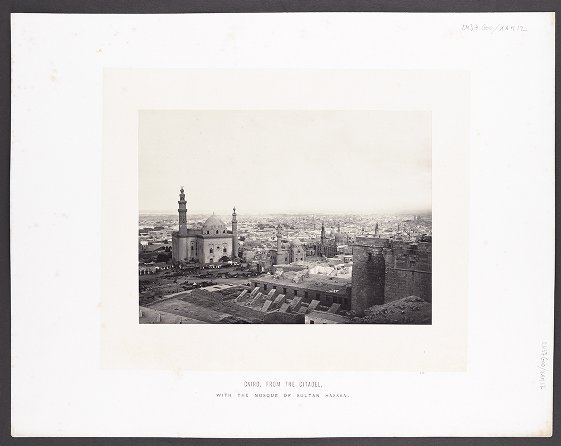 Cairo, From the Citadel, With the Mosque of Sultan Hassan