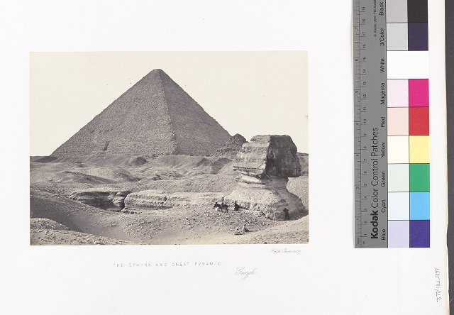 The Sphynx and Great Pyramid, Geezeh