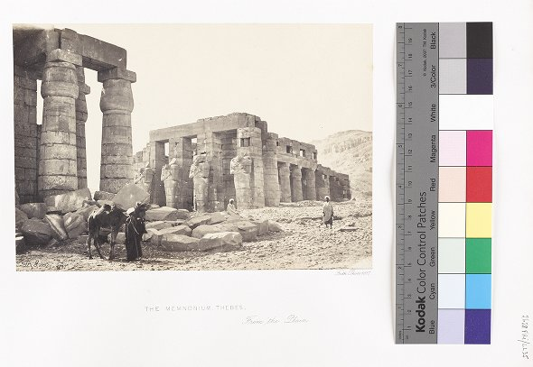 The Memnonium, Thebes, From the Plain
