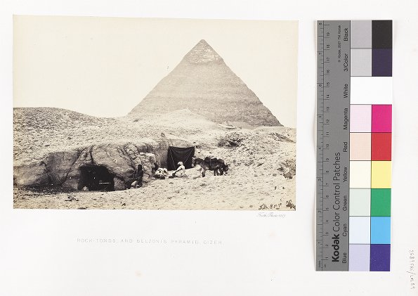Rock-Tombs, and Belzoni's Pyramid, Gizeh