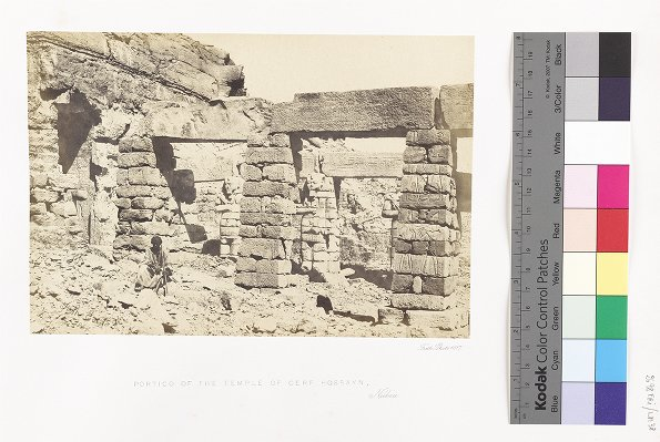 Portico of the Temple of Gerf Hossayn, Nubia