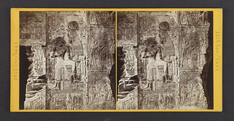 Egypt--Abydus. Specimen of the Sculptures from the Hall of the Great Temple of Abydus