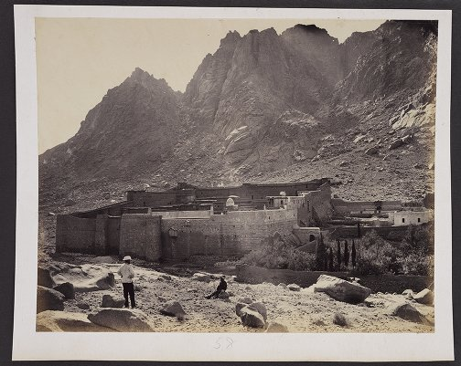 Convent of St. Catherine and Steps leading up to Jebel Musa