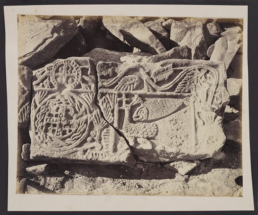 Carved Stone from Ruined Convent in Wadi Feiran