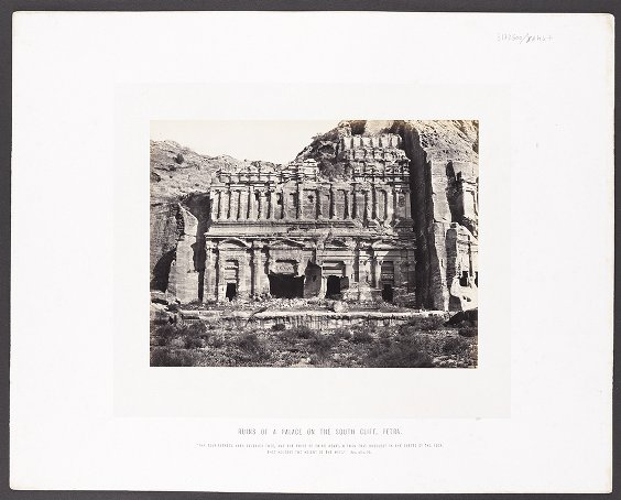 Ruins of a Palace on the South Cliff, Petra :