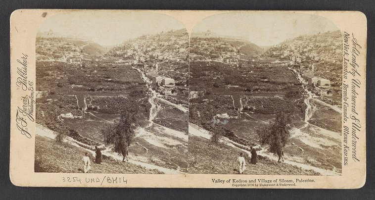 Valley of Kedron and Village of Siloam, Palestine
