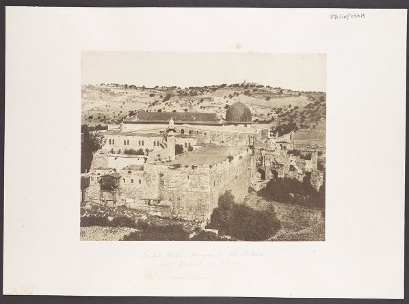 Temple Wall, Mosque of El Aksa and Mount of Olives