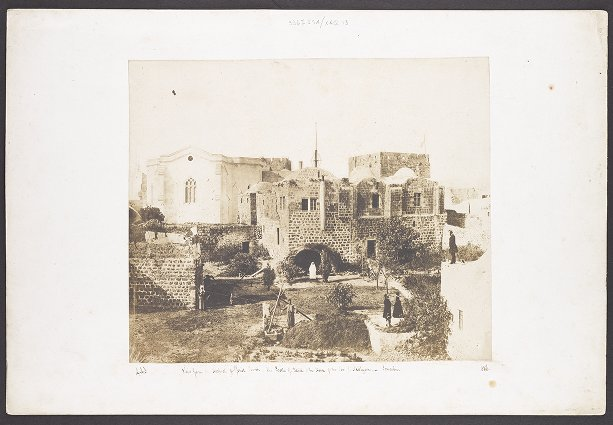 View from the Hospital of Christ Church--The Castle of David and the House of the Rev. I. Nicolayson