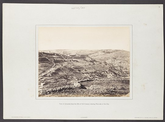 View of Jerusalem from the Hill of Evil Counsel, showing West side of the City