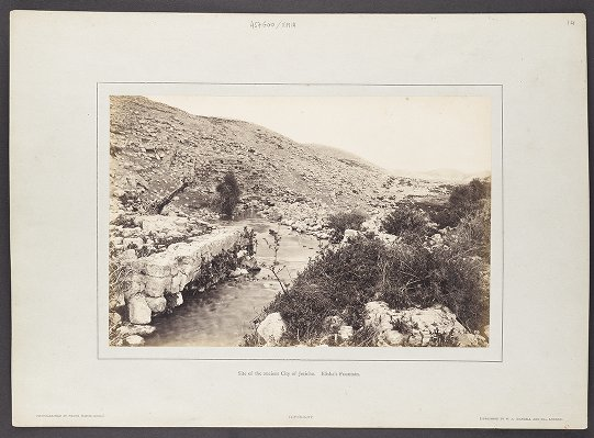 Site of the ancient City of Jericho. Elisha's Fountain.