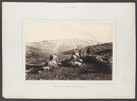 Mount Hermon. The supposed scene of the Transfiguration