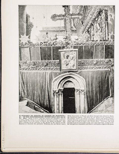 Entrance to Grotto in Church of Nativity--In the neighborhood where Boaz and Ruth met