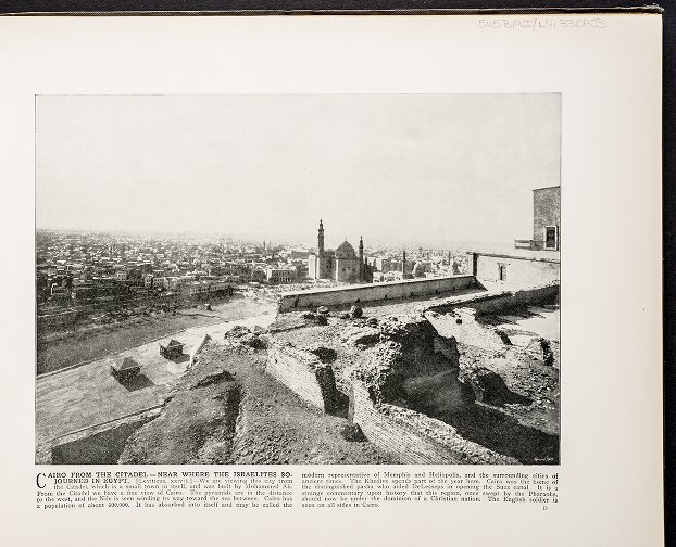 Cairo from the Citadel--Near where the Israelites sojourned in Egypt