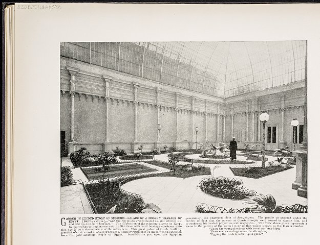 Garden in Second Story of Museum--Palace of a Modern Pharaoh of Egypt