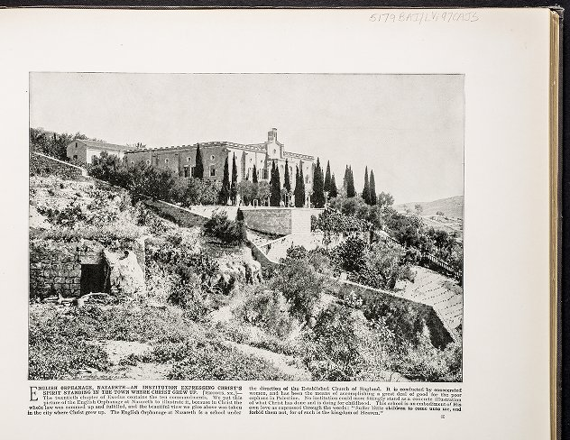 English Orphanage, Nazareth--An institution expressing Christ's spirit standing in the town where Christ grew up