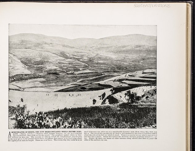 Amphitheater of Herod, the city Hosea declared would become desolate