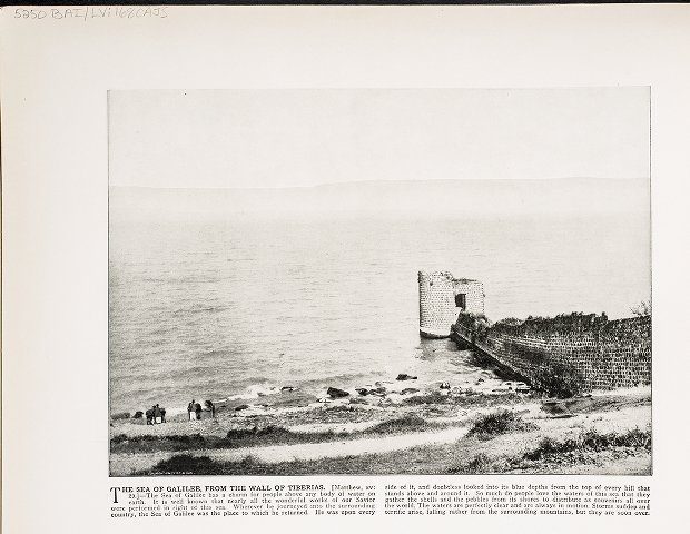 The Sea of Galilee, from the Wall of Tiberias