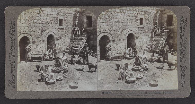 In the court of a village home, Cana of Galilee, Palestine