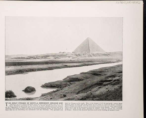 The Great Pyramid of Egypt--A monument Abraham saw