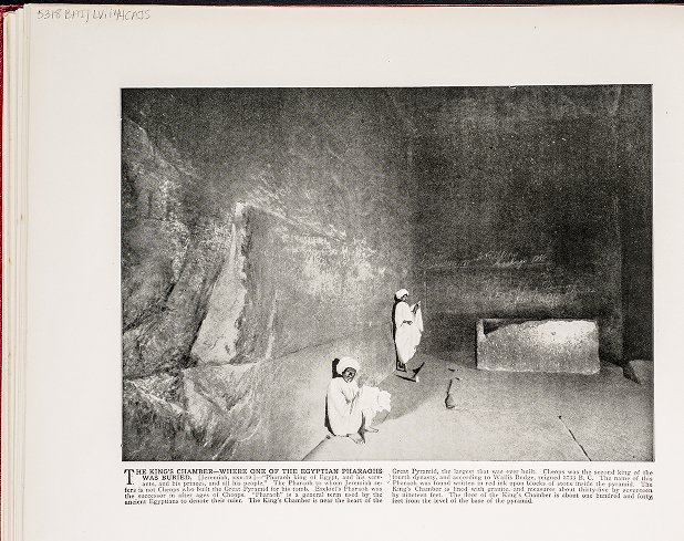 The King's Chamber--Where one of the Egyptian Pharaohs was buried