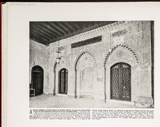 A Coptic Church--In the Crypt of which Christ is said to have spent part of the sojourn in Egypt with his Mother Mary